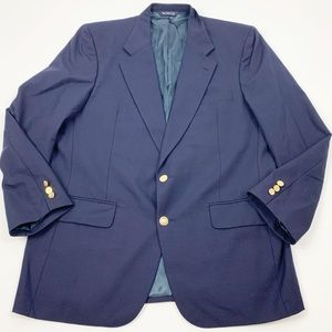 Burberrys Navy Blue Gold Button Sports Coat Blazer